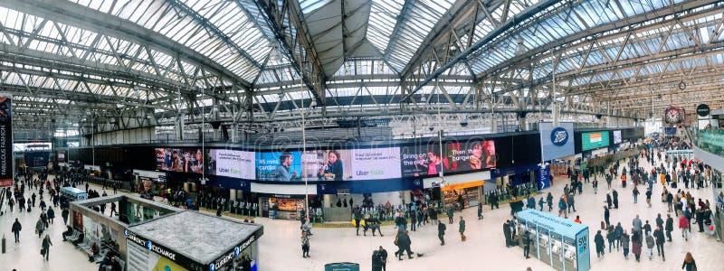 Waterloo stacji wnętrze obrazy royalty free