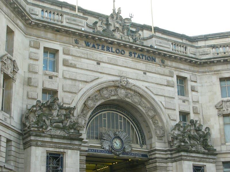 Waterloo-Stations-Fassade lizenzfreie stockbilder