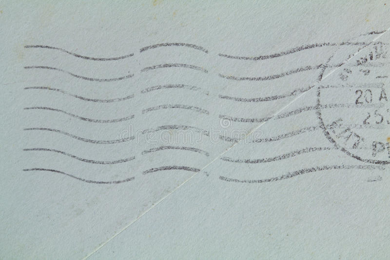 Watermark. Postal watermark on old letter royalty free stock images