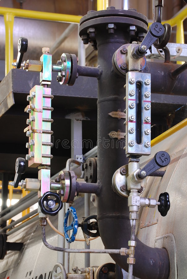 Watermark In The Gas Boiler Royalty Free Stock Photos