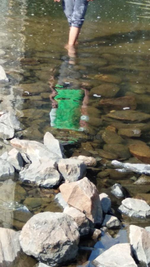 Watermark in water. It is my watermark in gangdua damp. It is so beautiful stock photo