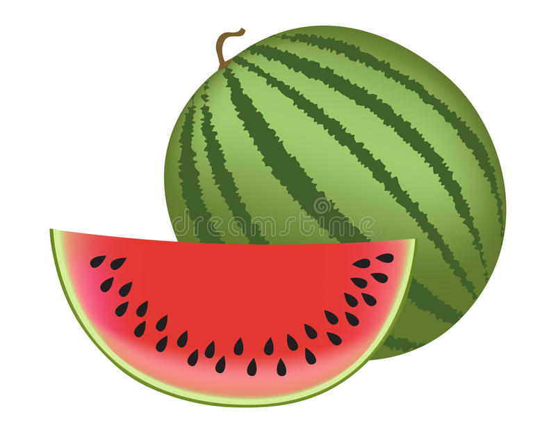 watermeloen royalty-vrije illustratie