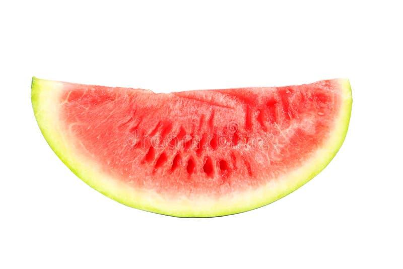 Watermeloen die op wit wordt geïsoleerdr royalty-vrije stock foto's