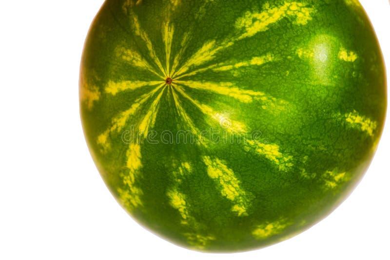 Watermeloen die op witte achtergrond wordt geïsoleerd) het verse fruit van de watermeloen stock foto's