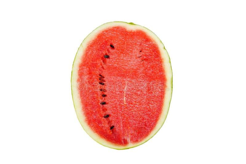 Watermeloen die op witte achtergrond wordt ge?soleerd) stock foto's