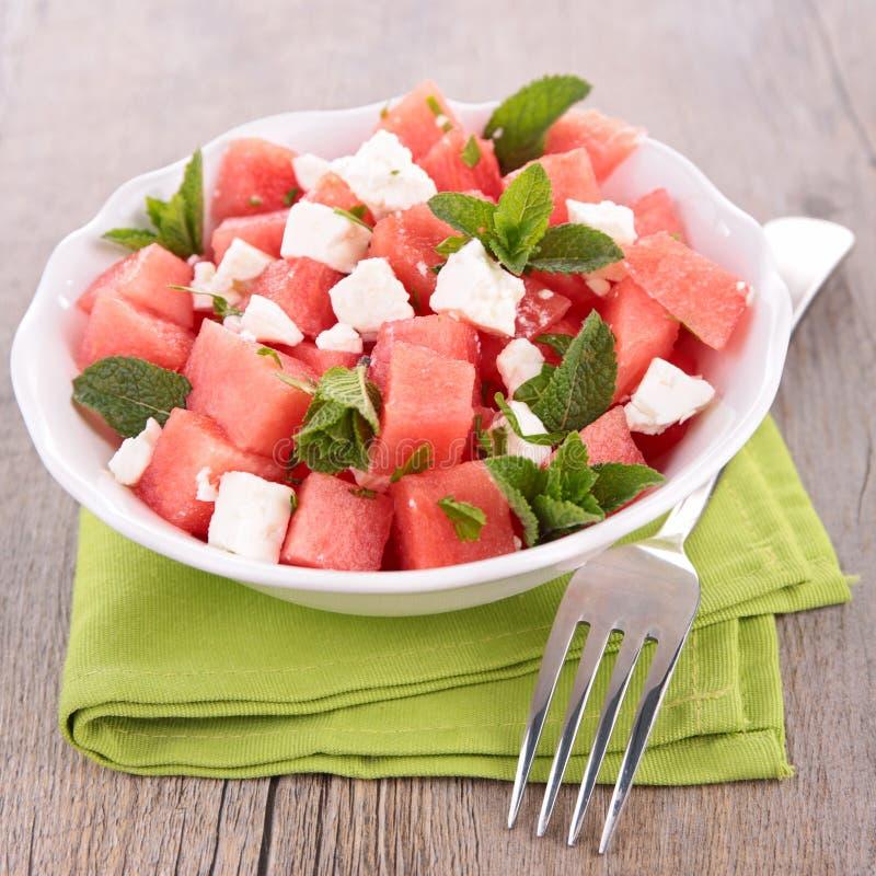 Watermeloen en feta royalty-vrije stock fotografie