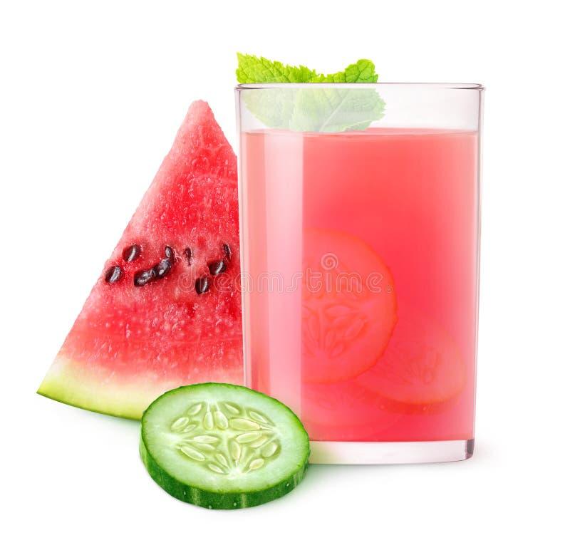 Watermeloen en komkommercocktail stock foto