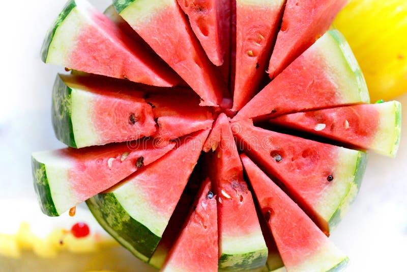 Watermeloen en meloen royalty-vrije stock foto's