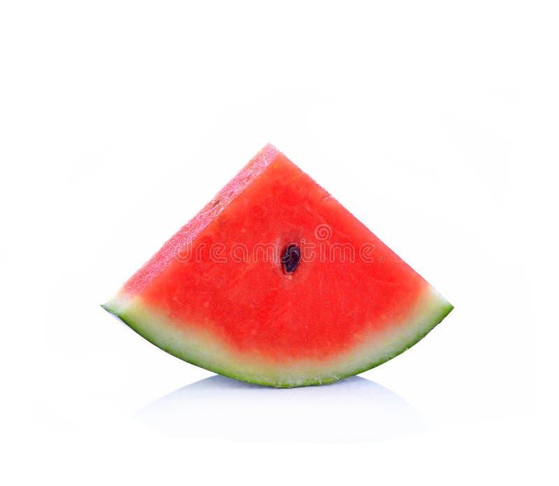 Watermeloen met op witte achtergrond royalty-vrije stock afbeeldingen