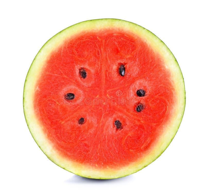 Watermeloen op de witte achtergrond royalty-vrije stock afbeelding