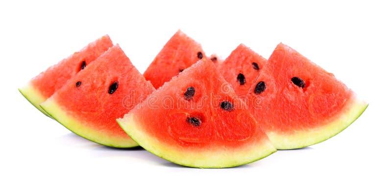 Watermeloen op de witte achtergrond royalty-vrije stock fotografie