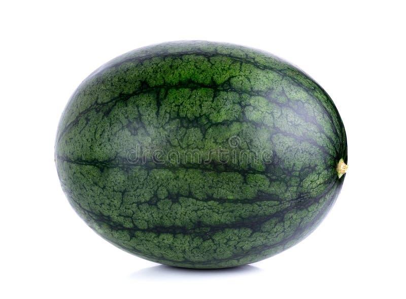 Watermeloen op de witte achtergrond wordt geïsoleerd die royalty-vrije stock afbeelding