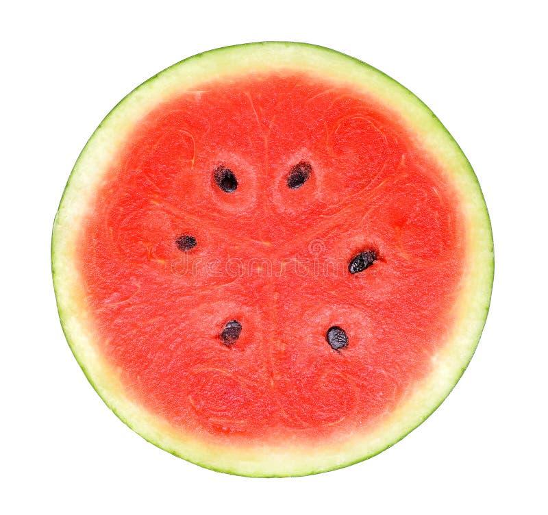 Watermeloen op de witte achtergrond wordt geïsoleerd die stock afbeeldingen