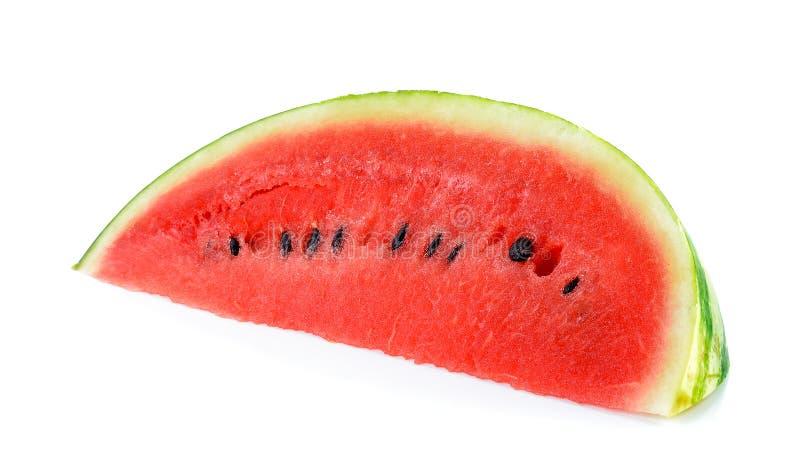 Watermeloen op de witte achtergrond wordt geïsoleerd die royalty-vrije stock foto's