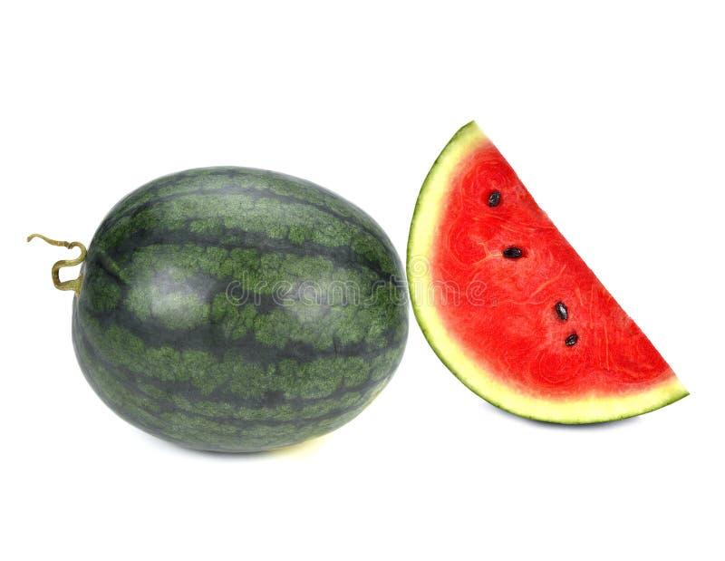 watermeloen op een witte achtergrond stock afbeelding