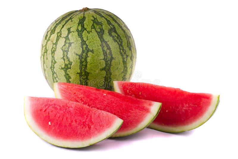 Watermeloen op wit stock afbeelding