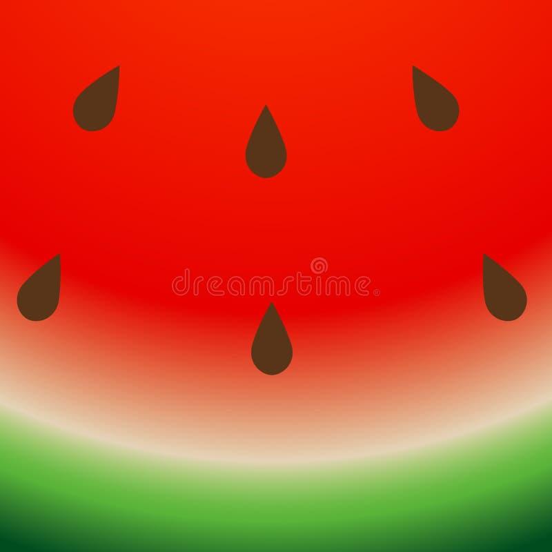 Watermeloenachtergrond Gestreepte, groene en rode de Zomerillustratie Vector abstracte het zaadtextuur van het voedselpatroon stock illustratie