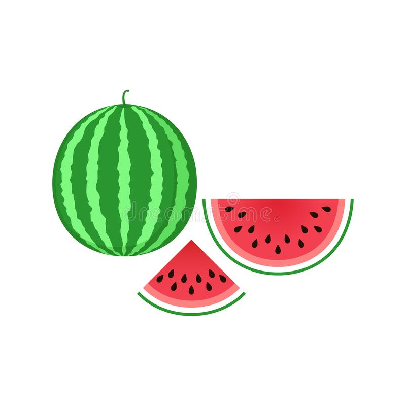 Watermeloenpictogram Gesneden de klemart. van het watermeloenpictogram Het stuk van de Clipartwatermeloen vector illustratie