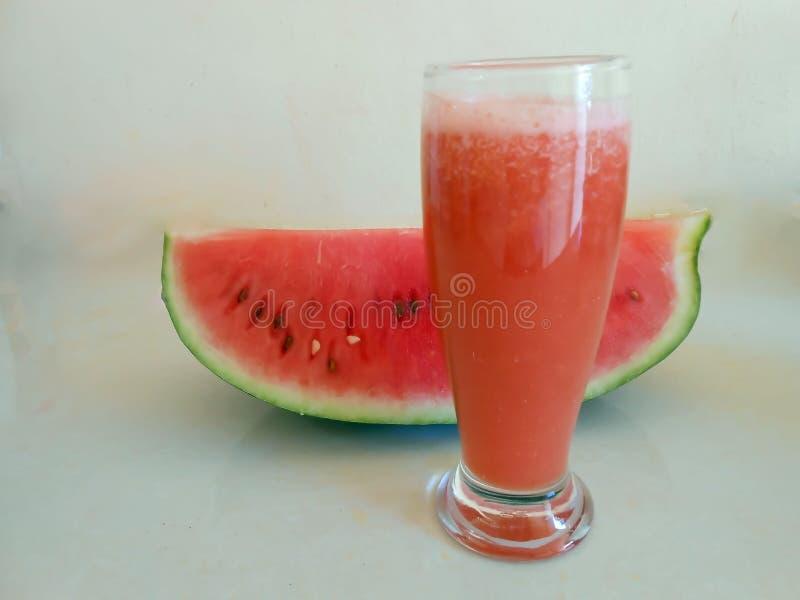 Watermeloenplak en Sap royalty-vrije stock fotografie