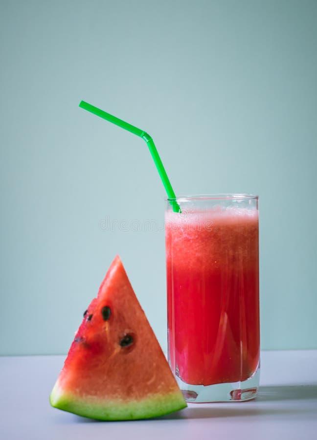 Watermeloensap Glas, voedsel royalty-vrije stock foto