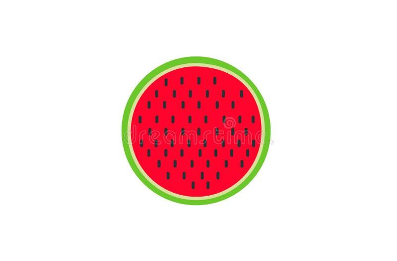 Watermeloenvector De zomerfruit Heerlijk voedsel stock afbeelding