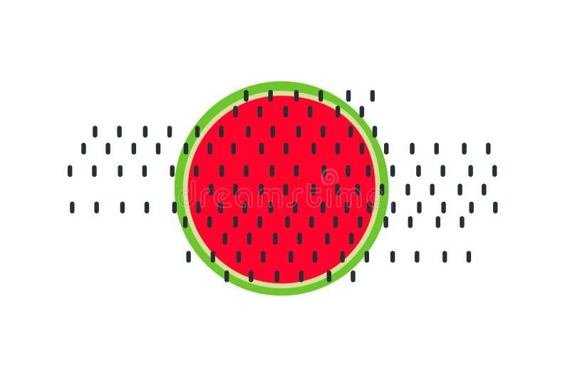 Watermeloenvector De zomerfruit Heerlijk voedsel stock foto