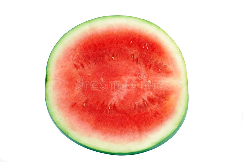 Watermelon. Isolated on white background royalty free stock photo