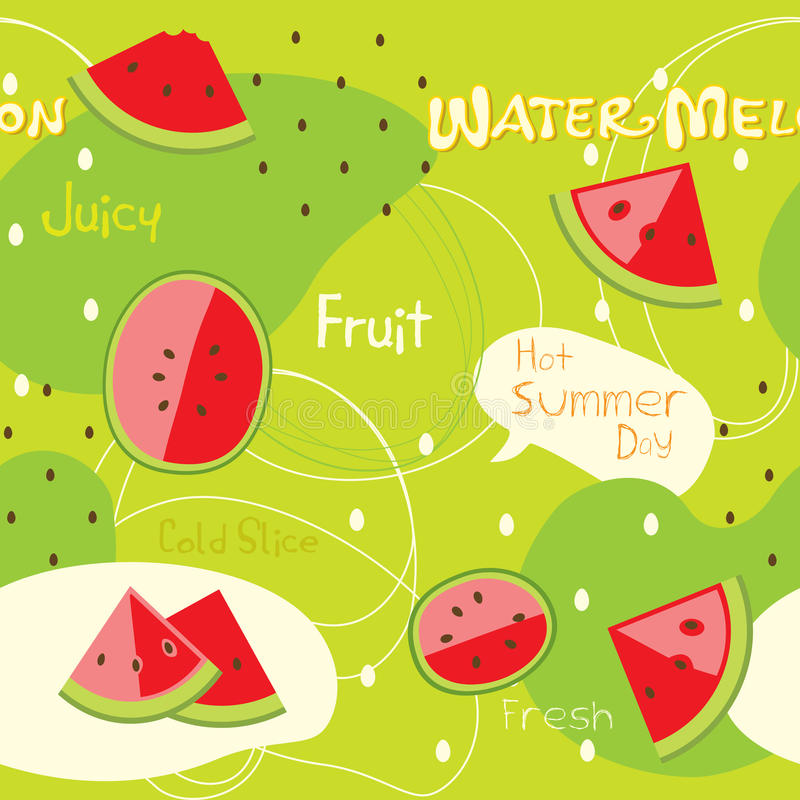 Watermelon royalty free illustration