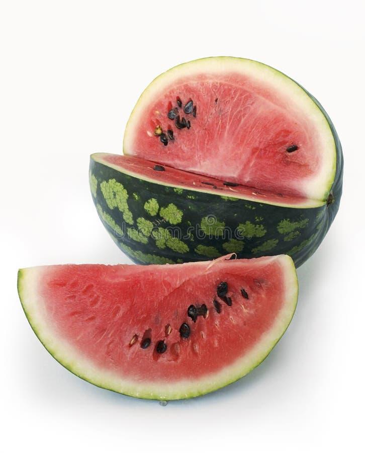 Watermelon. On white royalty free stock image