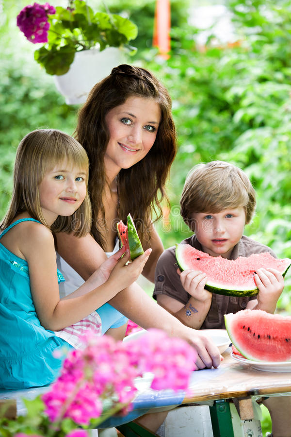Download Watermelon stock photo. Image of outdoors, summer, child - 26481076