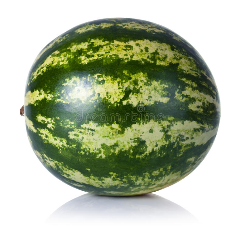 Watermelon. On white background. Fresh and juicy stock photo