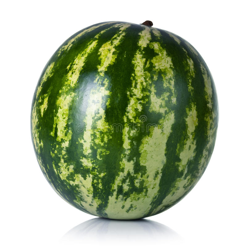 Watermelon. On white background. Fresh and juicy royalty free stock images