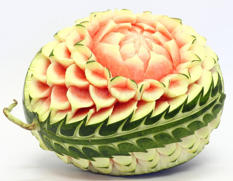 Watermelon asian fruit carving stock photo image of