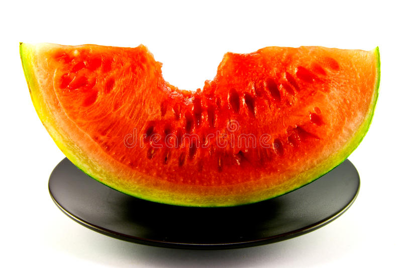 Download Watermelon with Bite Mark stock image. Image of organic - 10146601