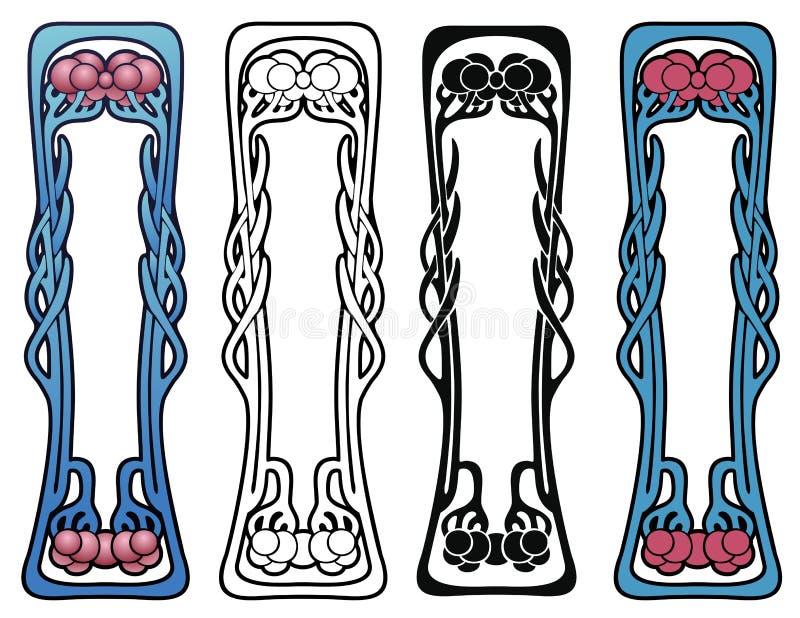 Art Nouveau Decorative Motif vector illustration