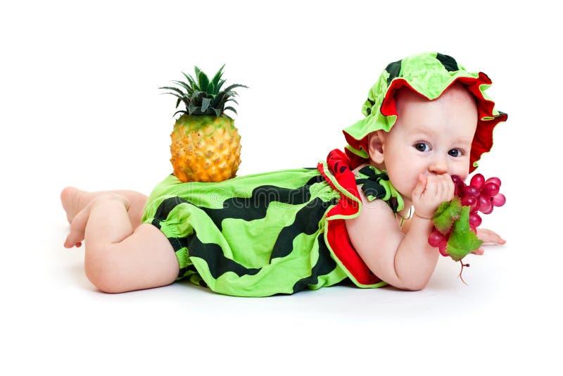 Download Watermelon boy stock photo. Image of white, pretty, dress - 21891582