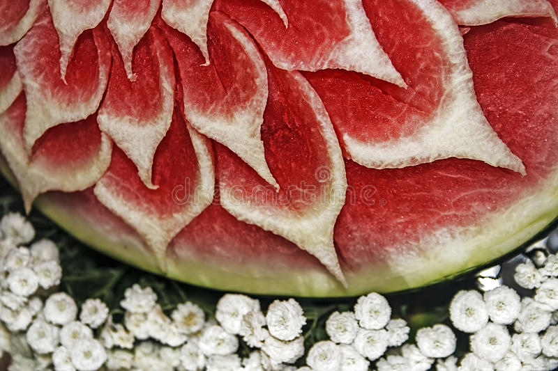 Watermelon Carving 2 Royalty Free Stock Images