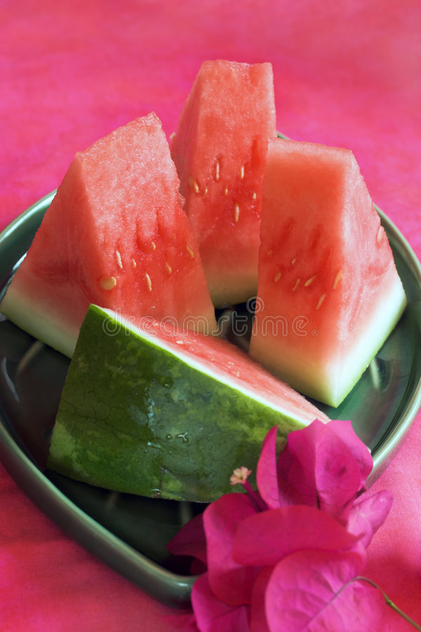 Watermelon chunks royalty free stock images