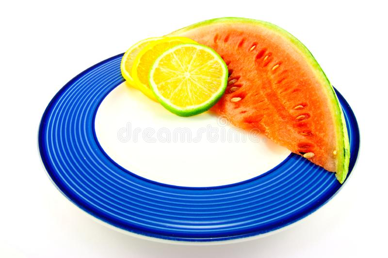 Download Watermelon With Citrus Slices Stock Photo - Image of market, plant: 10137224