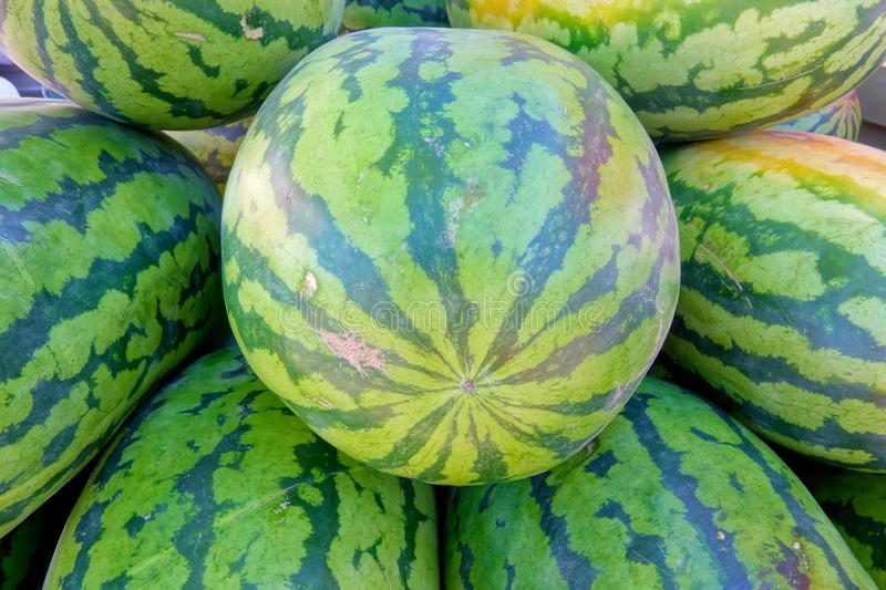 Watermelon. The close-up of watermelon royalty free stock photos