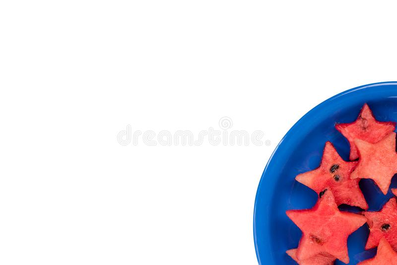 Watermelon creative star pieces, isolated stock image