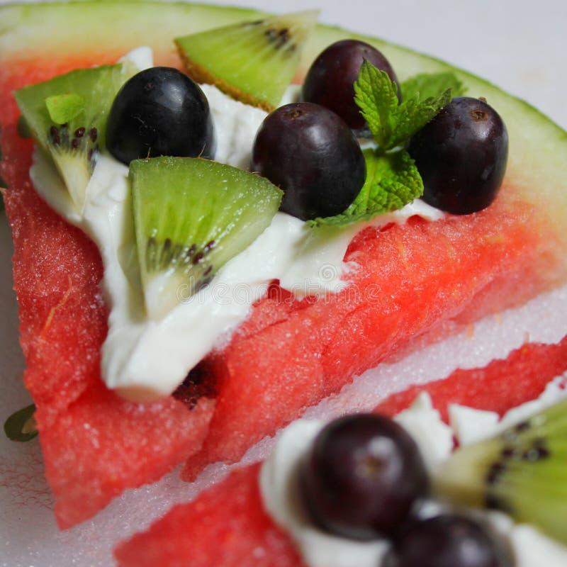 Watermelon desert stock images