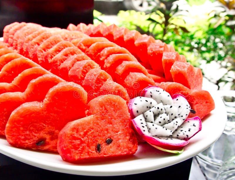 watermelon and dragon fruit stock image image 26299961. Black Bedroom Furniture Sets. Home Design Ideas