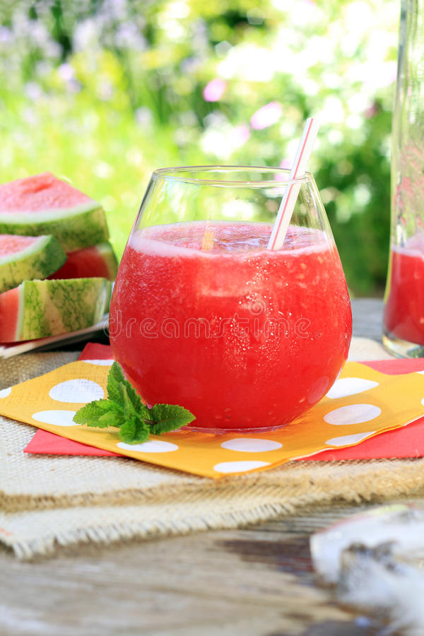 Watermelon drink stock images