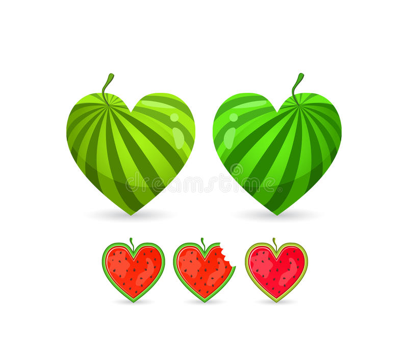 Watermelon In Form of Heart stock photo