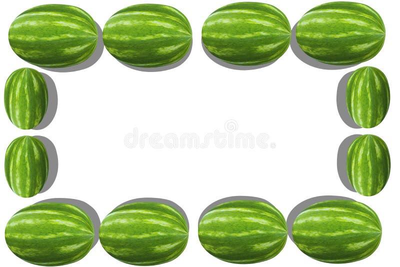 Watermelon frame royalty free stock photos