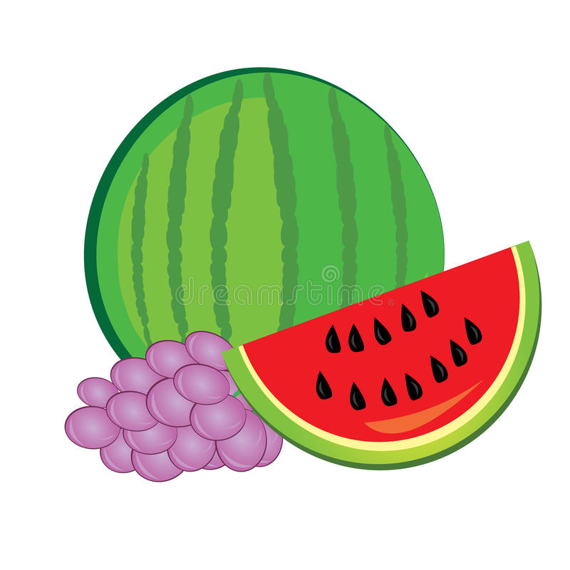 Download Watermelon And Grapes Royalty Free Stock Photos - Image: 18595898