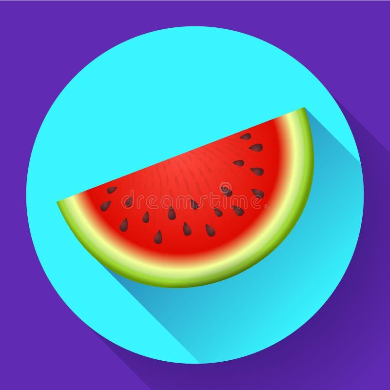 Watermelon icon vector. Sliced of watermelon vector flat fruit icon vector illustration