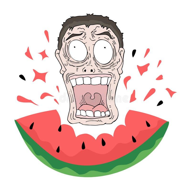 Watermelon illustration royalty free illustration