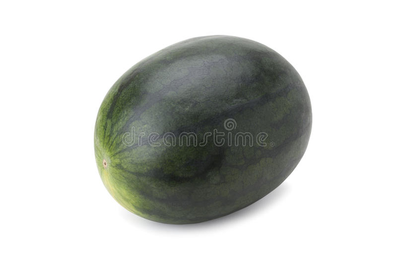 Watermelon. Isolated on white background with clipping path and soft shadow stock photo